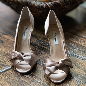 Nina Forbes2 D'Orsay Champagne pumps